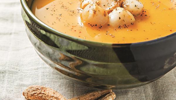 súp sò điệp bí ngô nhân sâm canada