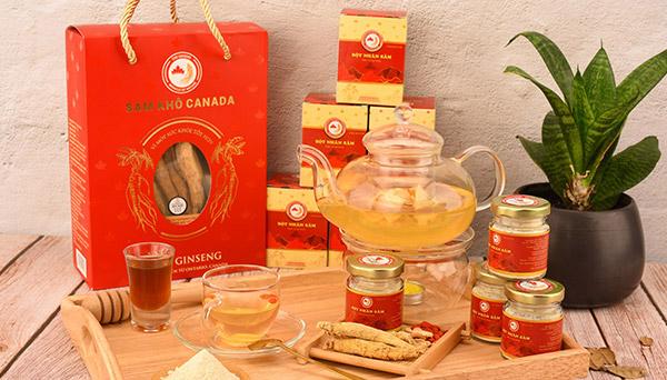 trà nhân sâm hoa cúc táo đỏ